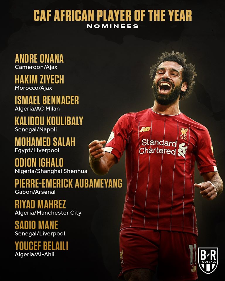 OFFICIAL: The nominees for the 2019 African Player of the Year: - Bóng Đá