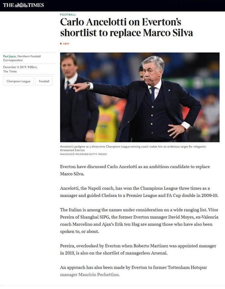 Everton gây sốc, liên hệ 6 siêu huấn luyện viên thay Marco Silva - Bóng Đá