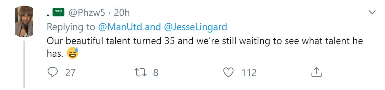 Fan Man Utd troll Lingard trong ngày sinh nhật - Bóng Đá