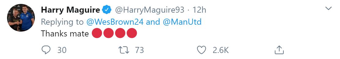 Man Utd thắng, Wes Brown đặc biệt chúc mừng riêng Maguire - Bóng Đá
