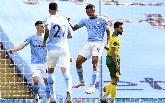 Giã nát Norwich trong ngày hạ màn, Man City vượt qua cột mốc khủng - Bóng Đá