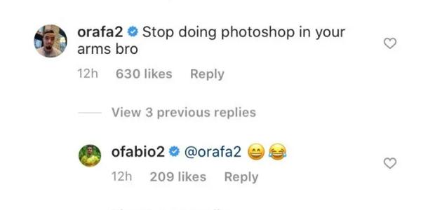 'Stop doing photoshop': Rafael trolls Rio Ferdinand for his bulked-up biceps - Bóng Đá