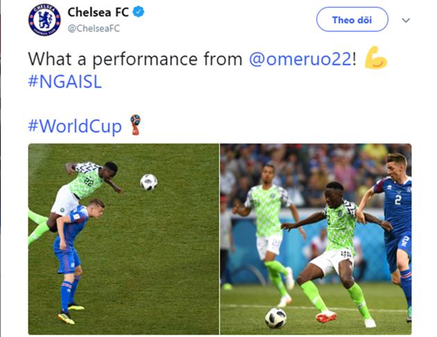 Chelsea ca ngợi hết lời với Omeruo sau màn trình diễn đẳng cấp trước Iceland - Bóng Đá