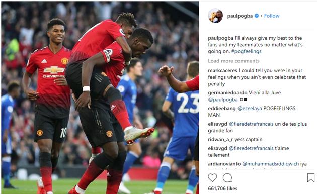 Sau màn trình diễn chói sáng, Pogba đưa ra thông điệp đầy bí ấn trên Instagram - Bóng Đá