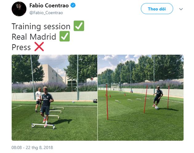 Fabio Coentrao xuất hiện trên sân tập Real - Bóng Đá