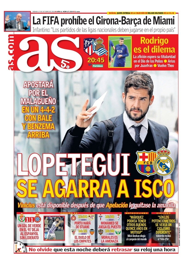El Clasico: Thành bại của Lopetegui đến từ Isco và sơ đồ 4-4-2 - Bóng Đá