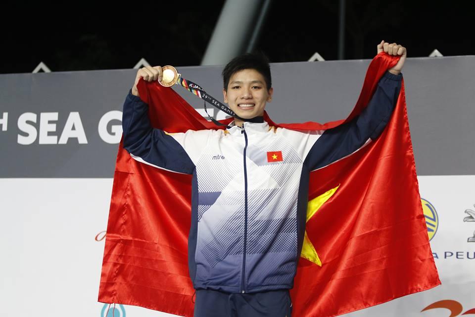 HLV Đặng Anh Tuấn nói gì về kỷ lục SEA Games của kình ngư trẻ Kim Sơn - Bóng Đá