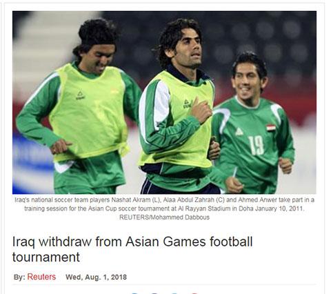 Nghi ngờ gian lận tuổi, Iran rút khỏi ASIAD Cup 2018 - Bóng Đá
