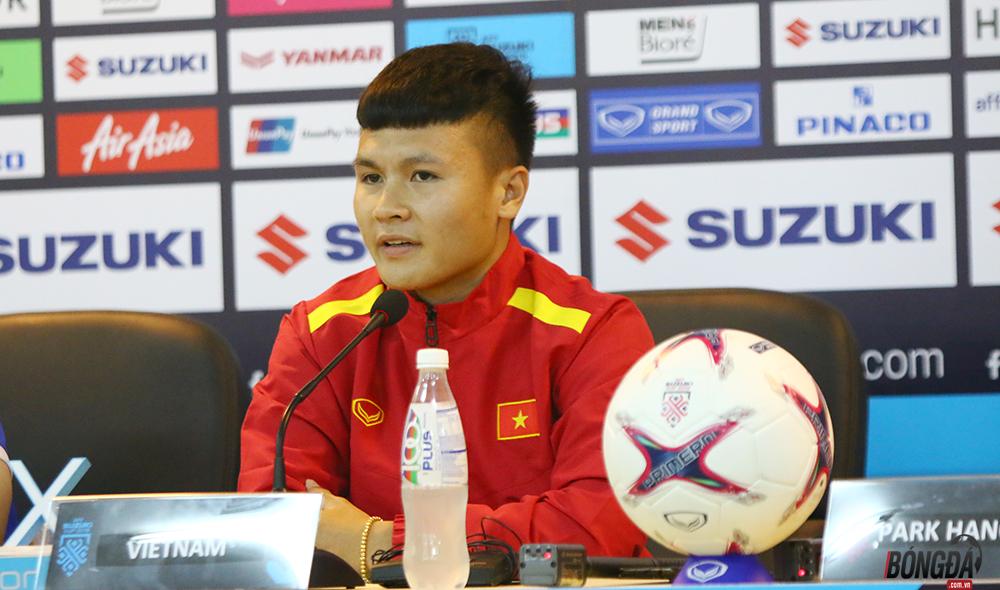 """Tiền vệ Nguyễn Quang Hải: """"ĐT Việt Nam chưa thể nghĩ tới việc gặp ai ở trận bán kết"""" - Bóng Đá"""