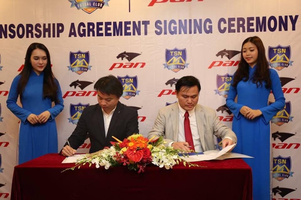 Futsal Thái Sơn Nam hợp tác cùn thương hiệu Thái Lan - Bóng Đá