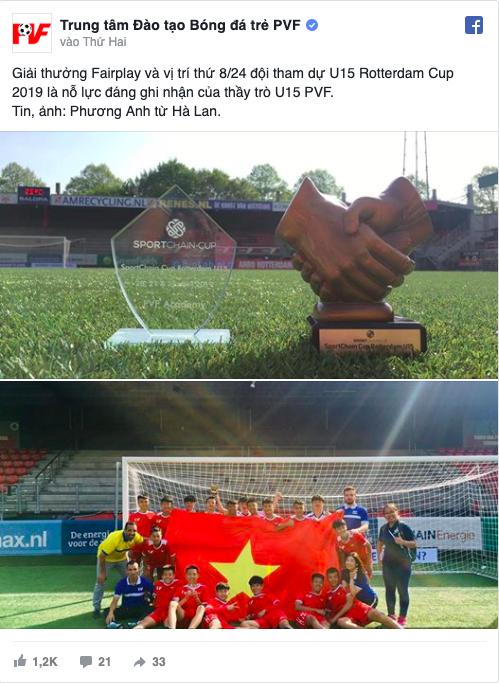 Báo châu Á khen ngợi U15 PVF vượt mặt đội bóng trẻ Totteham - Bóng Đá