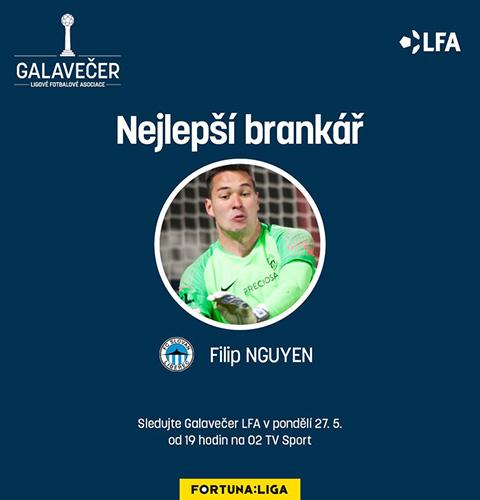Filip Nguyễn nhận thủ môn xuất sắc nhất Giải VĐQG CH Cezch - Bóng Đá