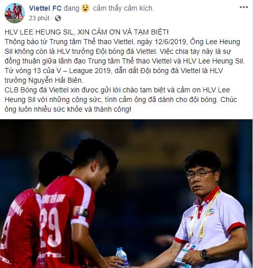 HLV Hàn Quốc đầu tiên chia tay V-League 2019 - Bóng Đá