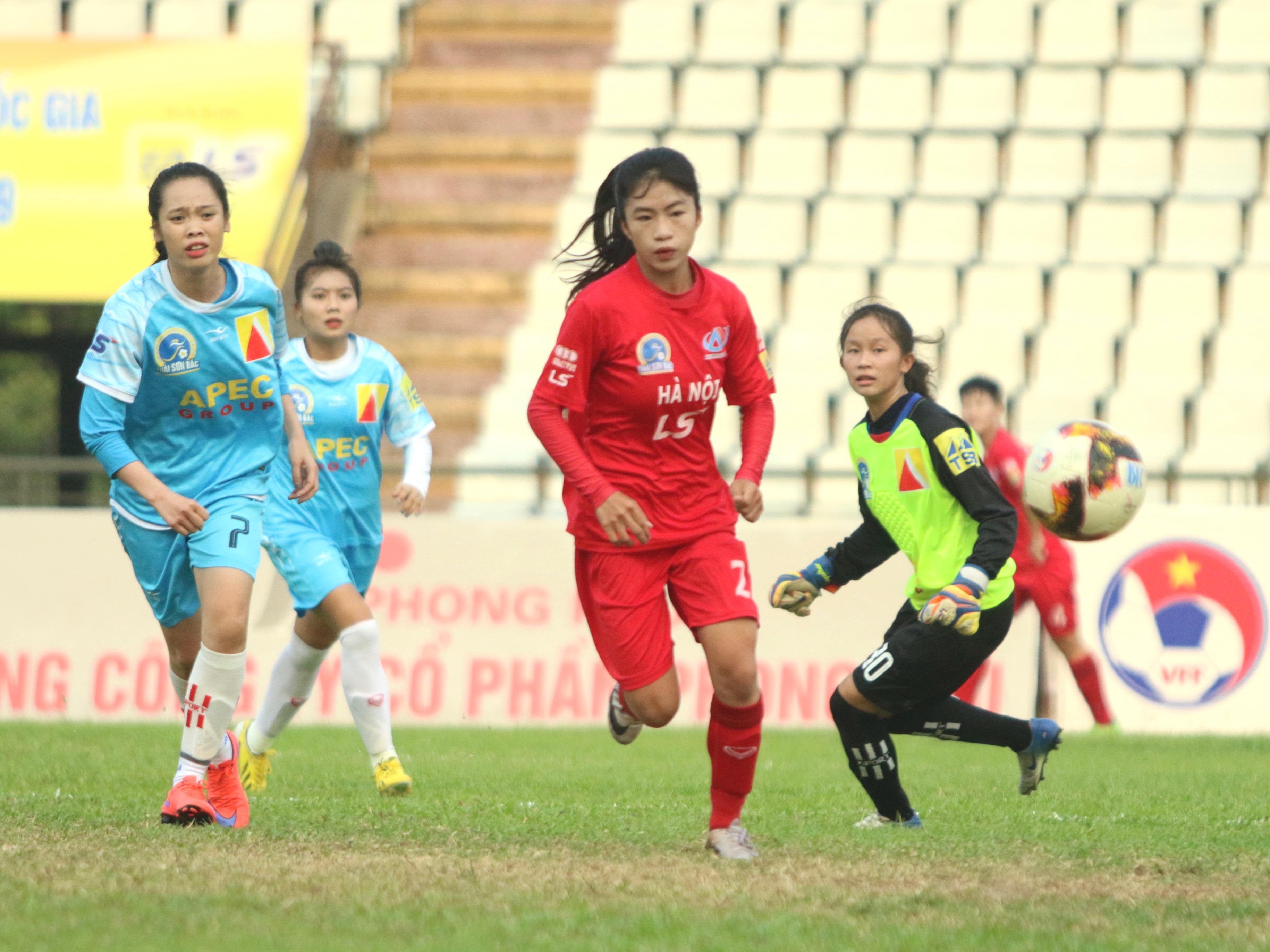 Giải VĐQG nữ 2019: Hà Nội có 3 điểm ngày sân Hà Nam gặp sự cố mất điện - Bóng Đá