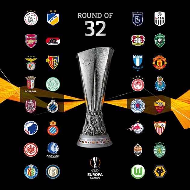 Bốc thăm vòng 1/16 Europa League - Bóng Đá