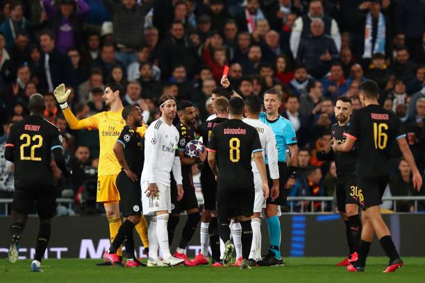 Ramos nhận thẻ đỏ, Real gục ngã đau đớn trước Man City ngay tại Bernabeu - Bóng Đá