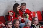 Schweinsteiger tình tứ đi xem khúc côn cầu cùng vợ