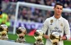 10 VĐV nổi tiếng nhất thế giới 2017: Ronaldo vô đối