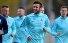 Rakitic, Modric vắng mặt trong buổi tập của Croatia