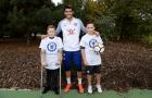Morata trở lại tập luyện và giao lưu với người khuyết tật