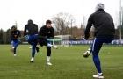 Sau lùm xùm nhảy với vợ, Morata đã trở lại tập luyện