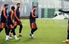 Messi rạng rỡ sau khi ghi bàn vào lưới Chelsea