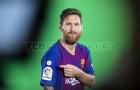 Messi khoe bản patch dành cho nhà vô địch La Liga trên áo đấu mới