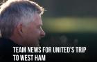 XONG! Đội hình M.U đấu West Ham: 2 cái tên OUT, nín thở chờ Rashford