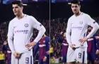 Bị CĐV Barca sỉ vả, Morata đáp trả với hành động phản cảm