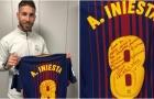 Iniesta bất ngờ tặng áo đấu El Clasico cuối cùng cho Ramos