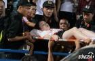SỐC: CĐV nữ Hà Nội nhập viện sau khi dính pháo sáng của CĐV Nam Định