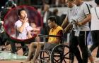 Khiến 'Messi Indonesia' ngồi xe lăn, Đoàn Văn Hậu xúc động nói 1 điều