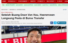 Báo Indonesia cay cú, mỉa mai việc Đoàn Văn Hậu chia tay SC Heerenveen