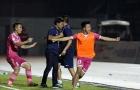 HLV Tài Em vui mừng với chiến thắng của Sài Gòn FC trước SLNA