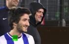 Mourinho bất ngờ tái xuất sân cỏ, luyện phòng ngự trong đêm tối