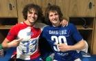 SỐC: David Luiz bất ngờ đụng độ 'anh em sinh đôi' ngay trong trận đấu