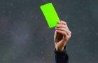 Trọng tài đã sử dụng thẻ xanh lần đầu tiên