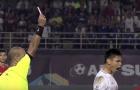 Chiếc thẻ đỏ đầu tiên ở AFF Cup 2016