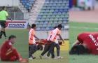 ĐT Việt Nam nằm la liệt sau màn kung-fu của ĐT Malaysia