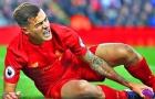 Không bị gãy xương, nhưng Coutinho phải nghỉ vài tuần