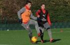 Chùm ảnh: Lucas Perez trở lại, Arsenal sẵn sàng đấu Southampton