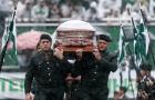 Cả trời cũng 'khóc thương' tiễn đưa các thành viên Chapecoense tử nạn