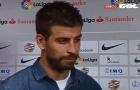 Barca thua tức tửi, Pique trút giận lên trọng tài