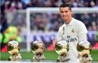 Đầu năm 2017, Ronaldo mang ra sân khoe cả 4 QBV