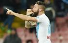 Mertens im tiếng, Napoli ngược dòng nghẹt thở trước 10 người Sampdoria