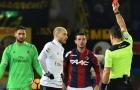 Nhận 2 thẻ đỏ, Milan vẫn thoát hiểm thần kì trước Bologna