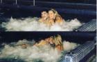 Maradona đón Valentine với bồ 9X trong bồn tắm