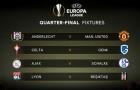 Bốc thăm tứ kết Europa League: Man United đụng Anderlecht