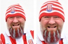 CĐV Stoke độ râu khủng để chào đón Chelsea
