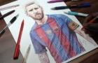 Cách vẽ Lionel Messi trong vòng 1 nốt nhạc